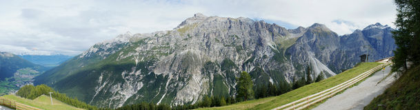 Panoramic view of the Stubai Alps in Tyrol Royalty Free Stock Photos