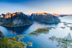 Panoramic view on stunning mountains Stock Image