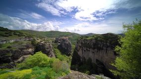 Holy Monastery of Varlaam in Meteora stock video footage