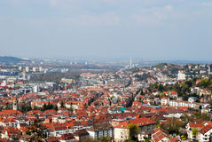 Panoramic view of Stuttgart city centre Royalty Free Stock Photo