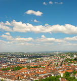 Panoramic view of Stuttgart city, Germany Stock Photos