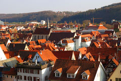 Panoramic view of Stuttgart-Esslingen Royalty Free Stock Image
