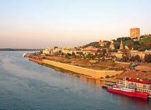 Panoramic view of summer Nizhny Novgorod Russia Stock Photography