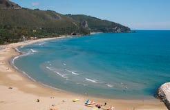 Panoramic view of summer sea from Sperlonga village, Lazio, Italy Stock Images