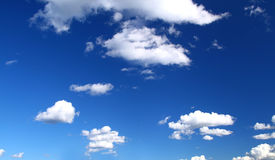 Panoramic view of summer sky Stock Images