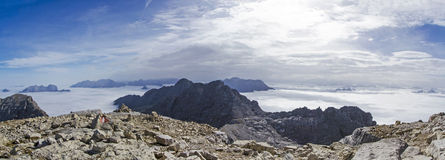 Panoramic view from summit Royalty Free Stock Image