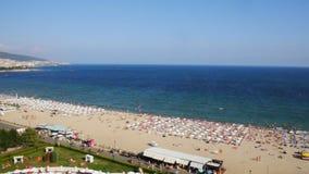 Panoramic view of Sunny Beach stock video