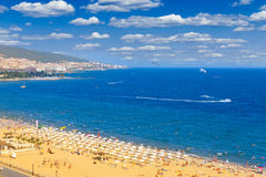 Panoramic view of Sunny Beach Stock Image