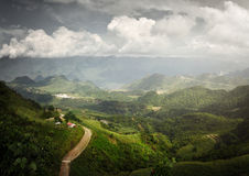 Panoramic view of the sunny valley in Ha Giang Province, North V Stock Photos