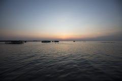 Panoramic view of the sunset on the Lake Maracaibo, Venezuela Royalty Free Stock Photo