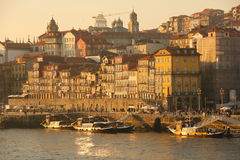 Panoramic view at sunset. Porto. Portugal royalty free stock photo