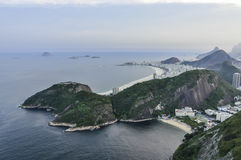 Panoramic view at sunset in Rio de Janeiro, Brazil Stock Image