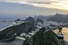 Panoramic view at sunset in Rio de Janeiro, Brazil Royalty Free Stock Photos