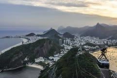 Panoramic view at sunset in Rio de Janeiro, Brazil Royalty Free Stock Photos