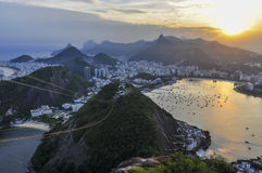 Panoramic view at sunset in Rio de Janeiro, Brazil Stock Photo