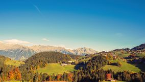 A panoramic view of the surroundings of Merano in the province of Bolzano at the late autumn. Italy stock photos