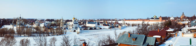 Panoramic view of Suzdal Stock Image