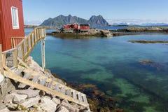 Panoramic view at Svolvaer in the Lofoten Stock Photos