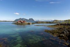 Panoramic view at Svolvaer in the Lofoten Royalty Free Stock Photo