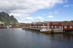 Panoramic view at Svolvaer in the Lofoten Stock Photography