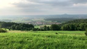 Panoramic view of the Swabian Alb the smaller Alps stock video footage