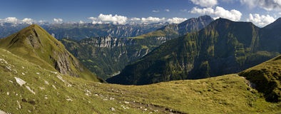 Panoramic view of the Swiss Alps. Glarus Alps royalty free stock photos