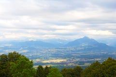 Panoramic view of Swiss Alps near Geneva, Switzerland. Royalty Free Stock Images