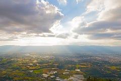 Panoramic view of Swiss Alps near Geneva, Switzerland. Royalty Free Stock Photos