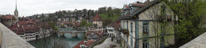 Panoramic view of the Swiss capital city of Bern Stock Photography