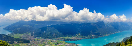 Panoramic View On Switzerland Mountain Stock Images
