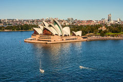 Panoramic view of the Sydney Opera House Royalty Free Stock Images