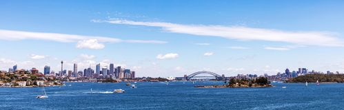 Panoramic view of Sydney skyline. Royalty Free Stock Image