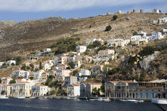 Panoramic view of Symi - Greece Stock Images