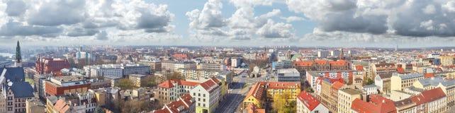 Panoramic view of Szczecin Stettin city downtown, Poland Royalty Free Stock Photography