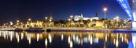 Panoramic view of Szczecin (Stettin) City with Pomeranian Dukes Royalty Free Stock Photos