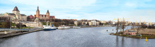 Panoramic view of Szczecin (Stettin), Poland. Stock Images
