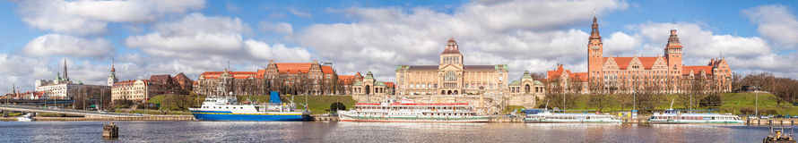 Panoramic view of Szczecin. Royalty Free Stock Photos