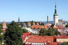 Panoramic view of Tallinn Stock Photos