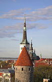 Panoramic view of Tallinn. Estonia Stock Image