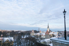 Panoramic view of Tallinn. Estonia Royalty Free Stock Images