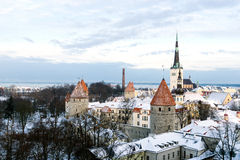 Panoramic view of Tallinn. Estonia Stock Images