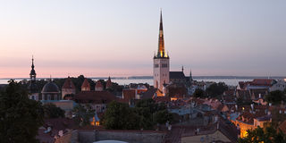 Panoramic view of Tallinn old town center Stock Photography