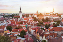 Panoramic view of Tallinn Stock Images