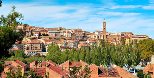 Panoramic view of Tarazona, in the province of Zaragoza, Spain. A panoramic view of Tarazona, in the province of Zaragoza, Spain Stock Photo