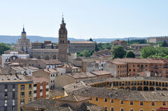 Panoramic view of Tarazona, (Spain) Royalty Free Stock Photo