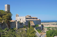 Panoramic view of Tarquinia. Lazio. Italy. Stock Photo