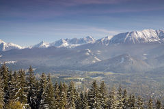 Panoramic view of Tatra Mountain Stock Photo