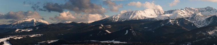 Panoramic view of Tatra Mountain Stock Images