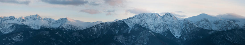 Panoramic view of Tatra Mountain Royalty Free Stock Photos