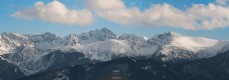 Panoramic view of Tatra Mountain Stock Photos